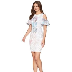 Ted Baker London Krimba Sea of Clouds Sheath D
